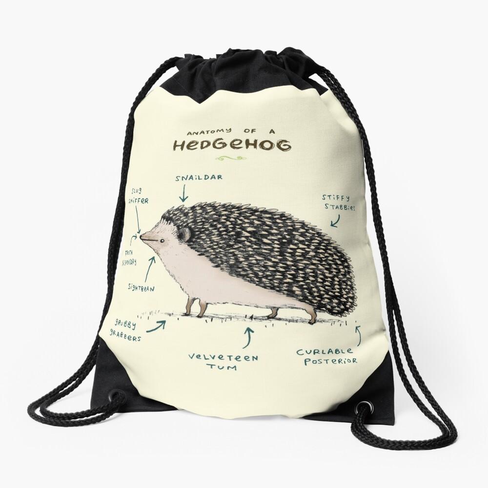 Anatomy of a Hedgehog Drawstring Bag