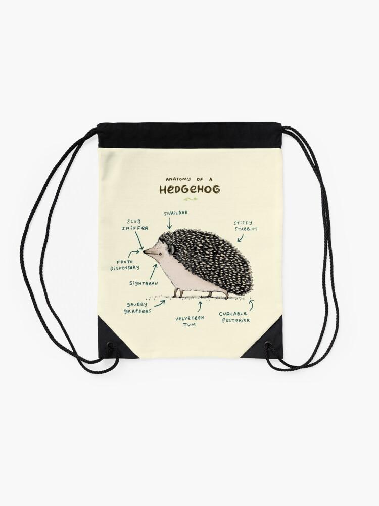 Alternate view of Anatomy of a Hedgehog Drawstring Bag