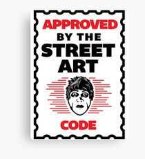 Dr Caligari Street Art Code Canvas Print