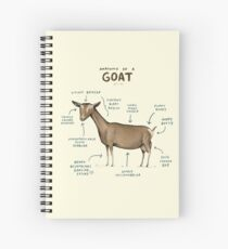 Anatomy of a Goat Spiral Notebook