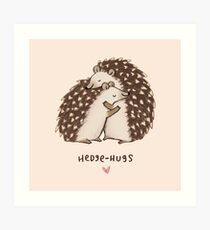 Hedge-hugs Art Print