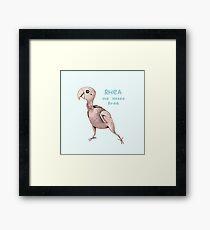 Rhea the Naked Birdie Framed Print