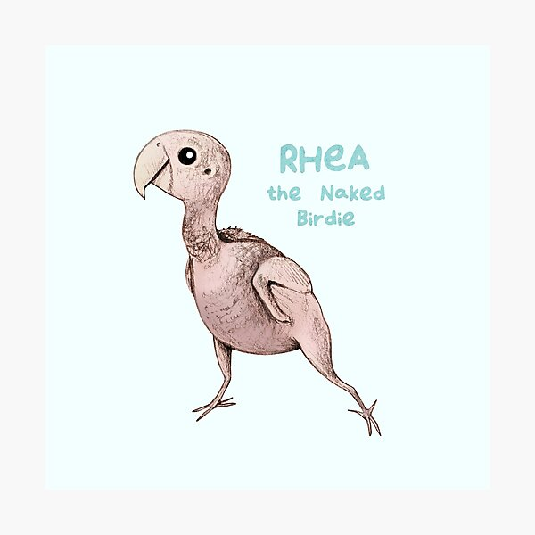 Rhea the Naked Birdie Photographic Print