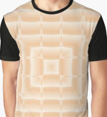 Square pattern, light peachy color. Graphic T-Shirt