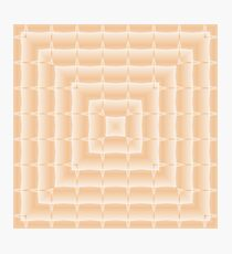 Square pattern, light peachy color. Photographic Print