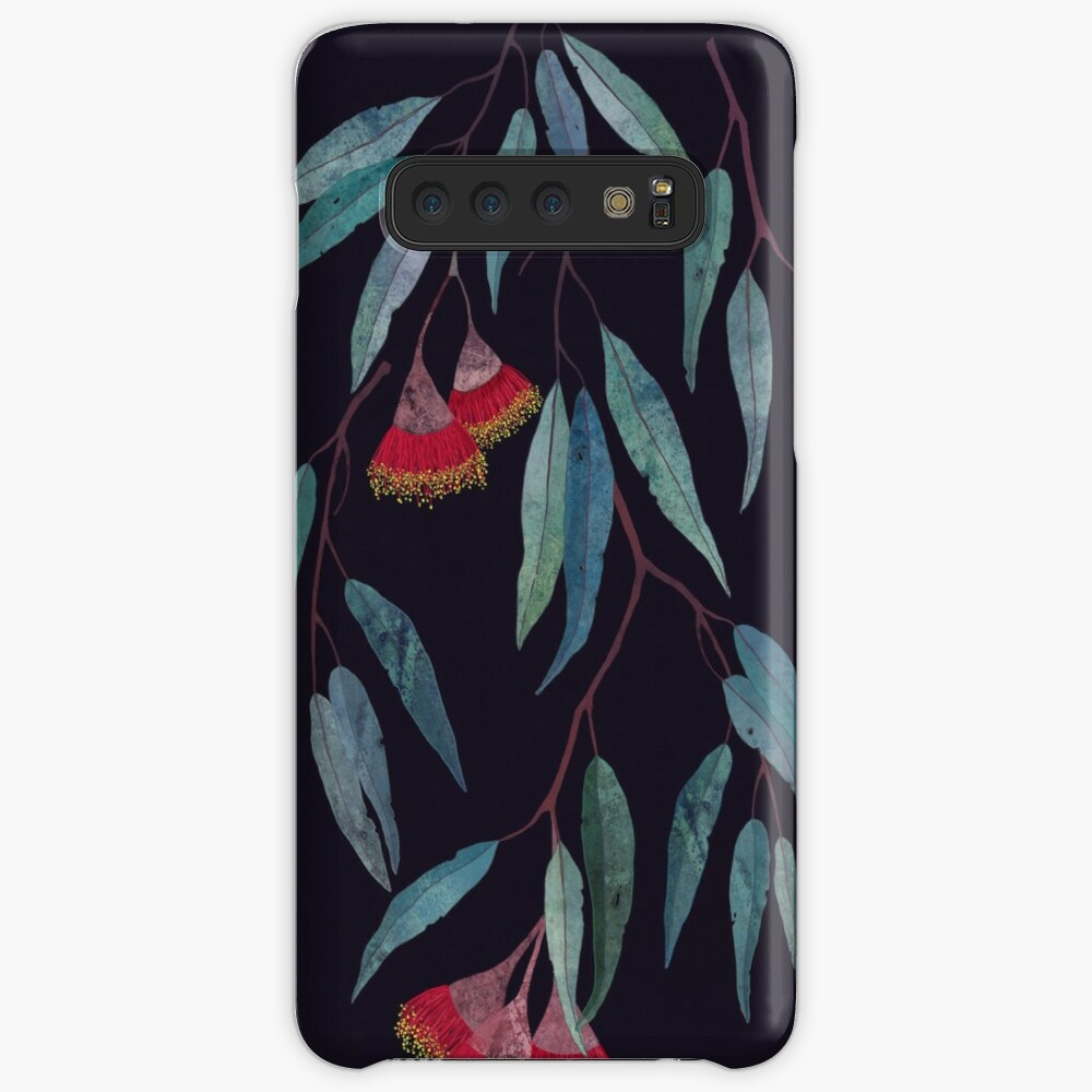 Eucalyptus leaves and flowers on dark Case & Skin for Samsung Galaxy