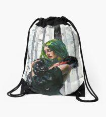 Black Swan Feelings Drawstring Bag