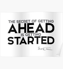 getting started - mark twain Poster