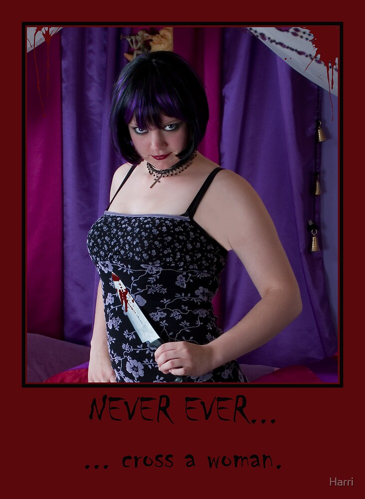 NEVER EVER cross a woman by Harri