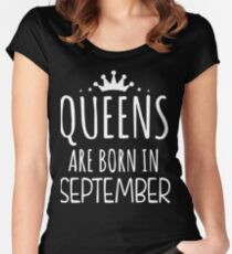 Queens Are Born in September Women's Fitted Scoop T-Shirt
