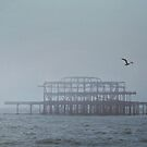 Brighton West Pier by Ludwig Wagner