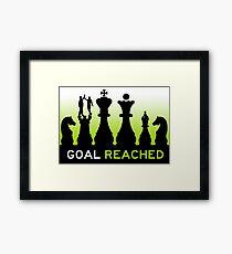 goal reached mission accomplished Framed Print