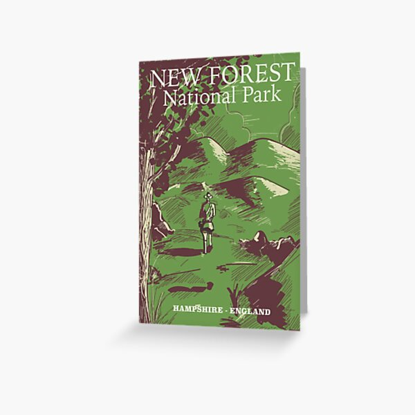 New Forest, Hampshire, England national park Greeting Card
