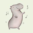Dancing Hippo by Sophie Corrigan