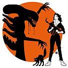 Alien Cartoon Style - Orange by Alain Bossuyt