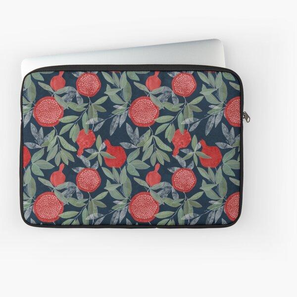 Red pomegranates on indigo Laptop Sleeve
