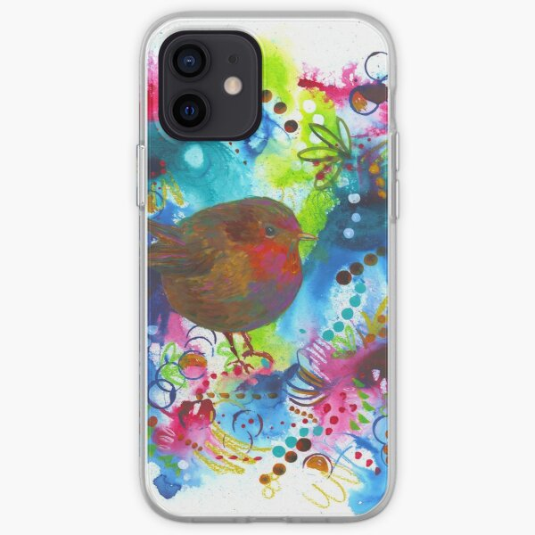 A Robin in Blooms iPhone Soft Case