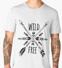 Crossed ethnic arrows and tribal ornament Men's Premium T-Shirt