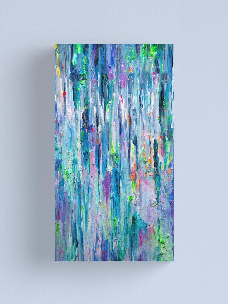 Alternate view of Silver Rain Canvas Print