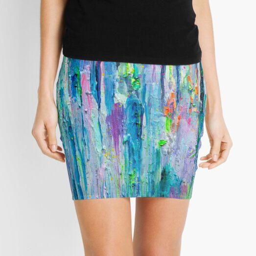 Silver Rain Mini Skirt