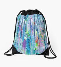 Silver Rain Drawstring Bag