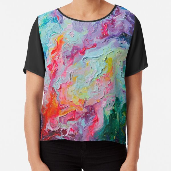 Elements - Spectrum Abstraction Chiffon Top