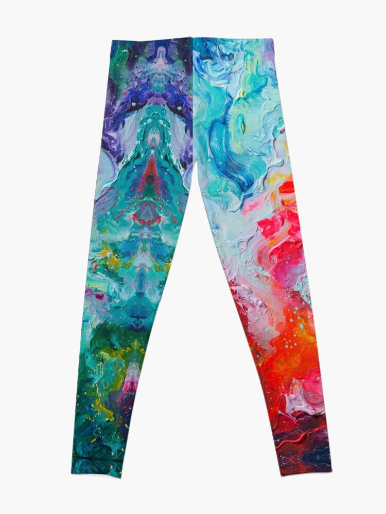 Alternate view of Elements - Spectrum Abstraction Leggings