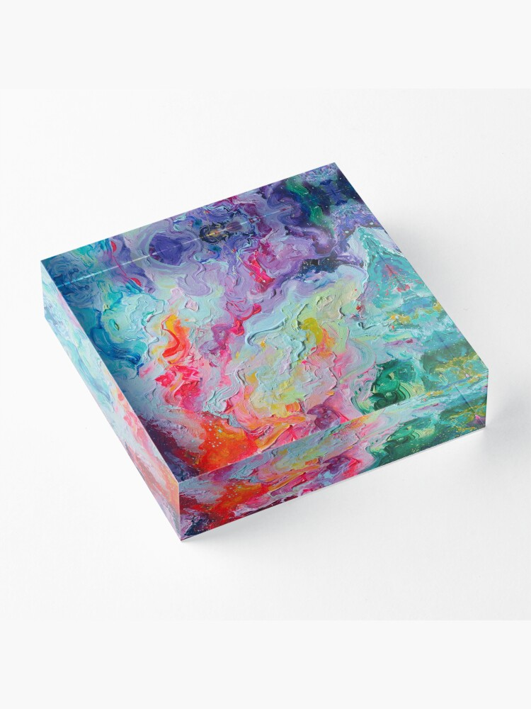 Alternate view of Elements - Spectrum Abstraction Acrylic Block