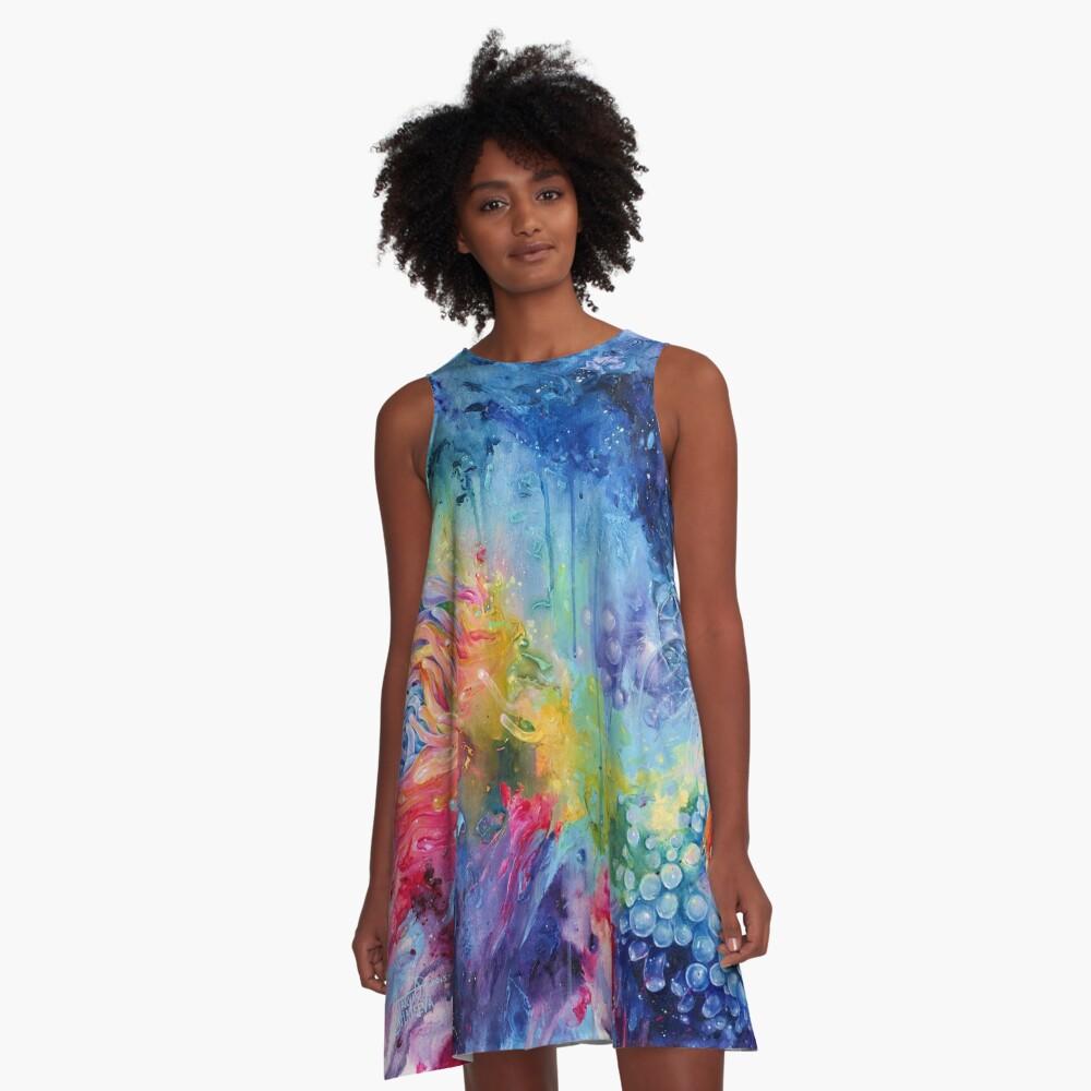Coralized A-Line Dress