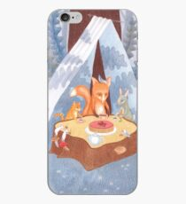 woodland animal round the picnic table iPhone Case