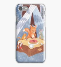 woodland animal round the picnic table iPhone Case/Skin