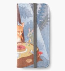 woodland animal round the picnic table iPhone Wallet/Case/Skin