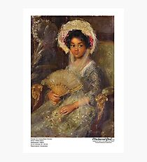 Portrait of a Young Black Woman Photographic Print