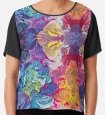 Rainbow Flow Abstraction Chiffon Top
