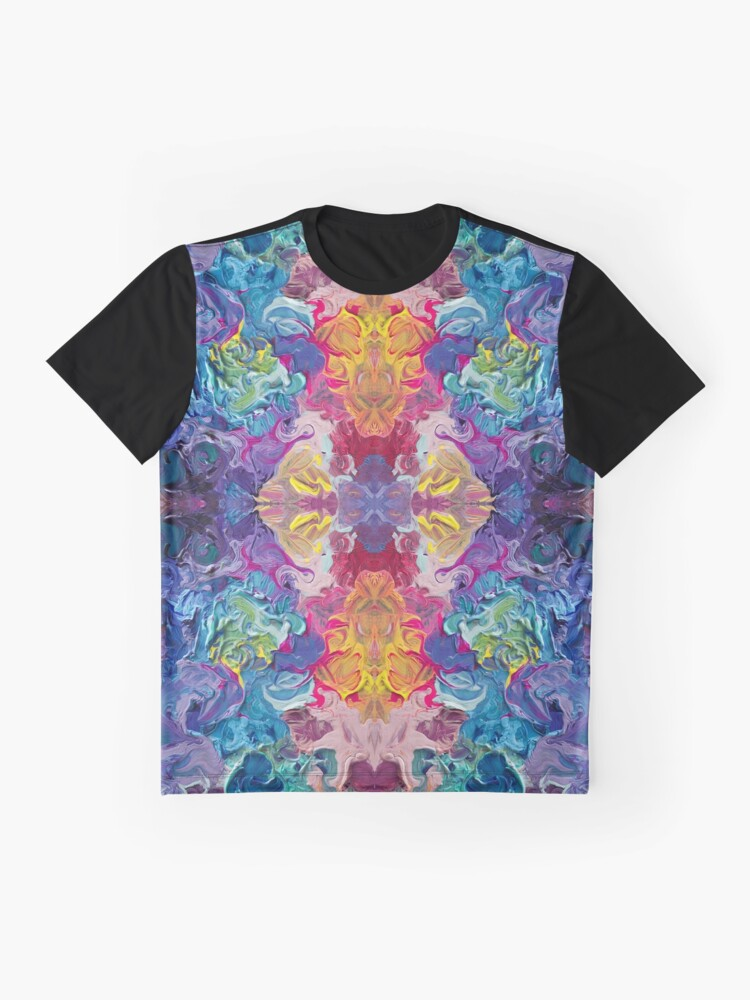 Alternate view of Rainbow Flow Abstraction Graphic T-Shirt