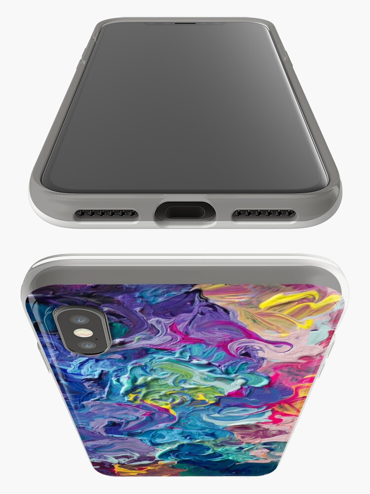 Alternative Ansicht von Rainbow Flow Abstraktion iPhone-Hüllen & Cover