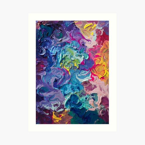 Rainbow Flow Abstraction Art Print