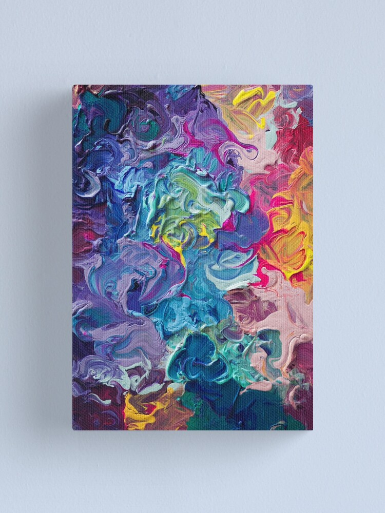 Alternate view of Rainbow Flow Abstraction Canvas Print