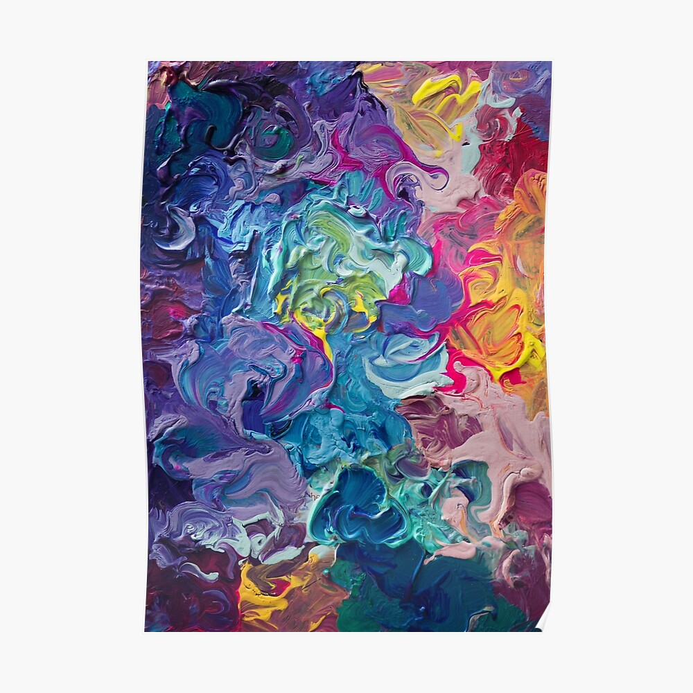 Rainbow Flow Abstraction Poster