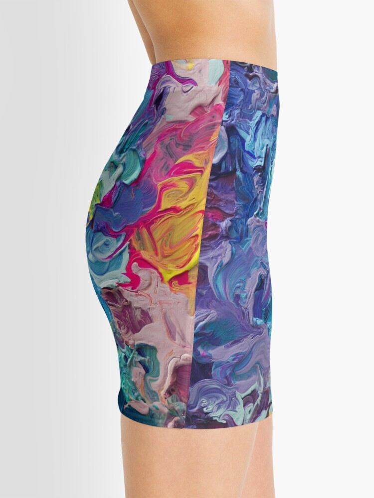 Alternate view of Rainbow Flow Abstraction Mini Skirt