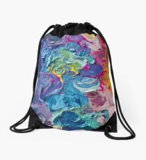 Rainbow Flow Abstraction Drawstring Bag