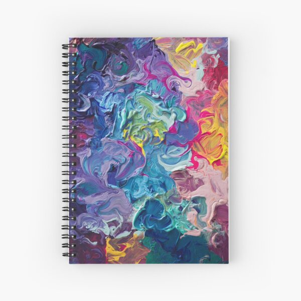 Rainbow Flow Abstraction Spiral Notebook
