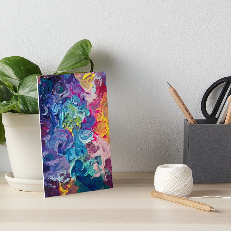 Rainbow Flow Abstraction Art Board Print