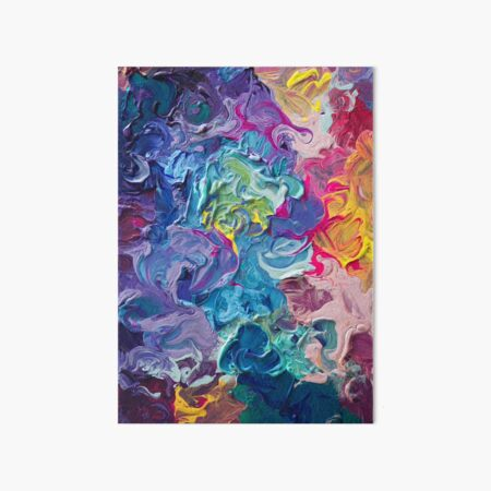 Rainbow Flow Abstraction Art Board Print