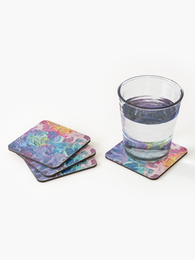 Alternate view of Rainbow Flow Abstraction Coasters (Set of 4)