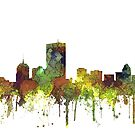 Skyline von Boston, Massachusetts - SG - Safari Buff von Marlene Watson