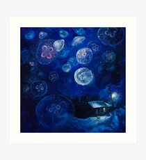 It's Jellyfishing Outside Tonight Art Print
