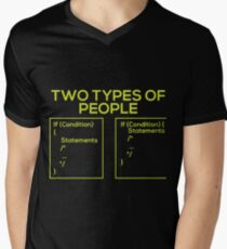Programming Types of People Mens V-Neck T-Shirt