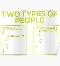 Programming Types of People Poster