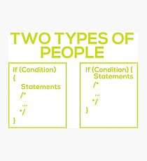 Programming Types of People Photographic Print